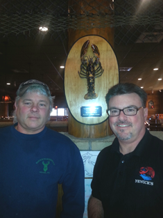 Dave with GM Bill Brennan of Newicks Lobster House.